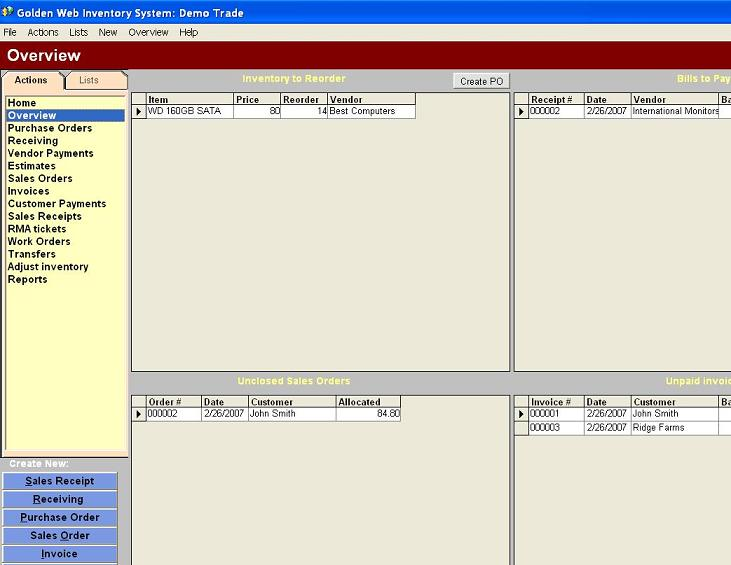 Click to view Golden Web Inventory System 3 screenshot