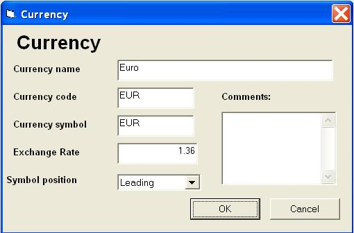 Multi currency Inventory database